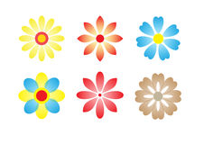 Vector Flower icon set stock photo