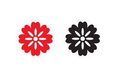 Vector Flower icon set royalty free stock photo