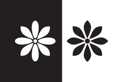 Vector Flower icon set royalty free stock images
