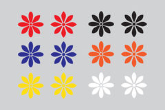 Vector Flower icon set stock image