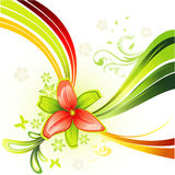 Vector flower illustration Stock Photography