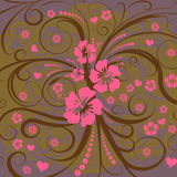 Vector flower illustration. Trendy abstract vector flower illustration Stock Image