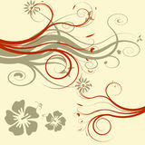 Vector flower illustration Stock Photos