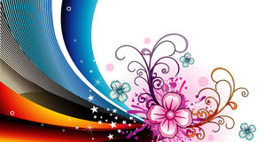 Vector flower illustration Royalty Free Stock Images