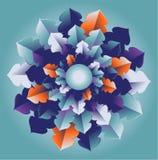 Vector flower illustration. Vector blue and orange flower illustration Royalty Free Stock Photos