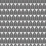 Linner Vector flower petals seamless design pattern. Royalty Free Stock Images