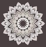 Vector flower mandala Royalty Free Stock Photo