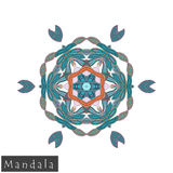 Vector flower mandala icon isolated on white Royalty Free Stock Photo