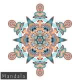 Vector flower mandala icon isolated on white Royalty Free Stock Image