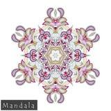Vector flower mandala icon isolated on white Stock Photo