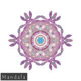 Vector flower mandala icon isolated on white Stock Photography