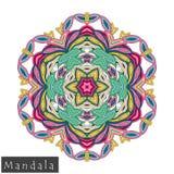Vector flower mandala icon isolated on white Stock Images