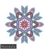 Vector flower mandala icon isolated on white Royalty Free Stock Photography