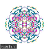 Vector flower mandala icon isolated on white Royalty Free Stock Images