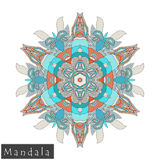 Vector flower mandala icon isolated on white stock image