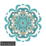 Vector flower mandala icon isolated on white stock photo