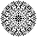 Vector flower medallion. Stock Photo