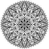 Vector flower medallion. Stock Photo