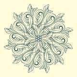 Vector flower medallion Stock Images