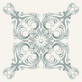 Vector flower medallion Royalty Free Stock Images