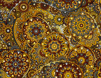Vector flower paisley seamless ethnic pattern element.  Stock Photo