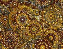 Vector flower paisley seamless ethnic pattern element.  Stock Photo