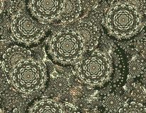 Vector flower paisley seamless gray pattern element. Stock Photos
