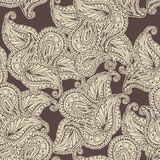 Vector flower paisley seamless pattern. Stock Photo