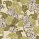 Vector flower paisley seamless pattern. Stock Images