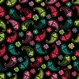 Vector flower paisley seamless pattern element Stock Image