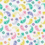 Vector flower paisley seamless pattern element Royalty Free Stock Images