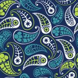 Vector flower paisley seamless pattern element Royalty Free Stock Photography