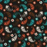Vector flower paisley seamless pattern element Royalty Free Stock Image