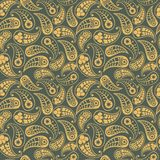 Vector flower paisley seamless pattern element. Elegant texture for backgrounds Royalty Free Stock Photo