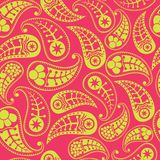 Vector flower paisley seamless pattern element Stock Photos