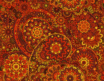 Vector flower paisley seamless pattern element. Elegant texture for backgrounds.  Royalty Free Stock Photo