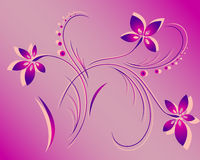 Vector flower pattern Royalty Free Stock Photo