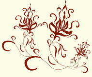 Vector flower pattern Royalty Free Stock Photography
