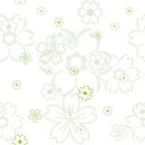 Vector flower pattern Stock Photo