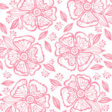 Vector flower pattern. Royalty Free Stock Photos