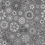 Vector flower pattern. Seamless botanic texture Stock Photography