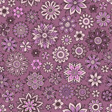 Vector flower pattern. Seamless botanic texture Stock Image