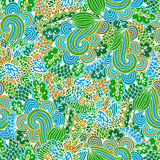 Vector flower pattern. Seamless botanic texture. Royalty Free Stock Photos