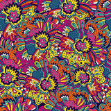 Vector flower pattern. Seamless botanic texture. Stock Photos