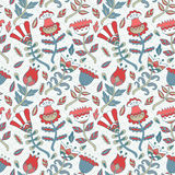 Vector flower pattern. Royalty Free Stock Photography