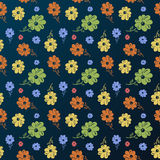 Vector flower pattern. Vintage seamless background Royalty Free Stock Photo