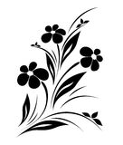 Vector flower pattern on white background Stock Images
