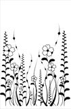 Vector flower pattern on white background Stock Photography