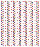 Vector of Flower Pattern. On white background Royalty Free Stock Images