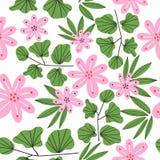 Botanical floral seamless pattern. vector flower print. floral background. textile fabric design. royalty free illustration
